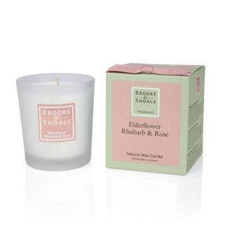 Scented Candle - Elderflower, Rhubarb & Rose
