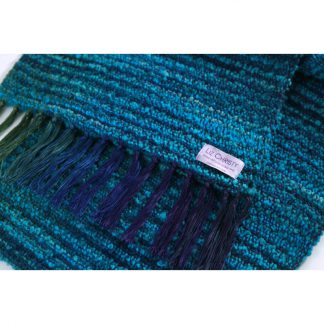waterlillies scarf in cerulean-blue