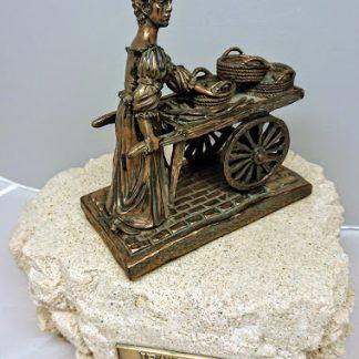 Jeanne Rynhart Bronze Sculpture - Molly Malone - Small