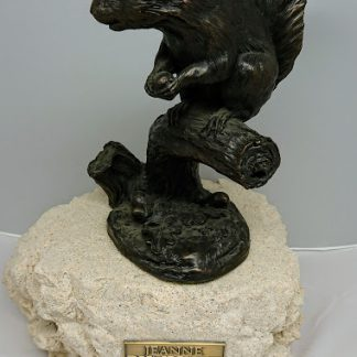 Jeanne Rynhart Bronze Sculpture - Squirrel