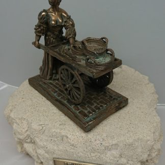 Molly Malone Bronze Sculpture - Jeanne Rynhart - Medium