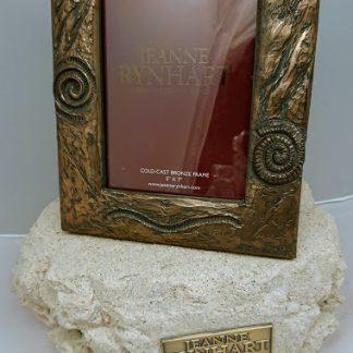 Jeanne Rynhart Bronze Frame Fossil 5 inch x 7 inch