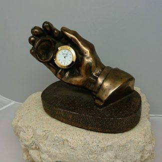 Jeanne Rynhart Bronze Sculpture - Hand of Time