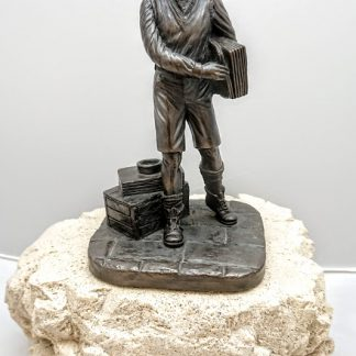 Jeanne Rynhart Bronze Sculpture - News Boy