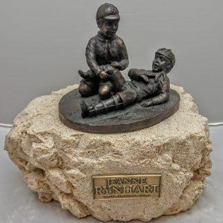 Jeanne Rynhart Bronze Sculpture - Boy Scouts