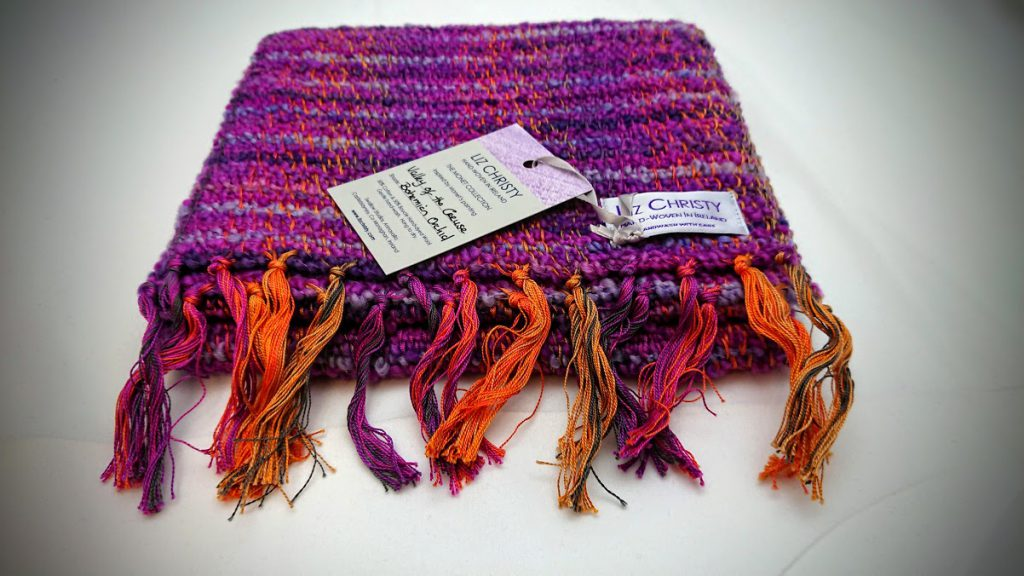 Liz Christy Scarf - Valley of the Creuse - Bohemian Orchid
