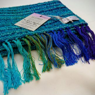 Liz Christy Scarf - The Walk at Argenteuil - Cerulean Blue