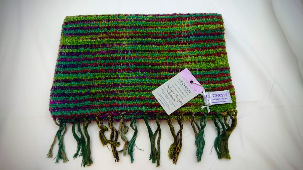 Liz Christy Scarf - The Pond at Montgeron - Pre Raphelite