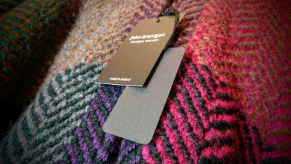 John Branigan Knitwear - Hood Ruana - Mulberry